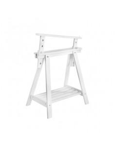 ASTIGARRAGA Tréteau Pin Archi Tec blanc 70/98 x 70 x 40 cm