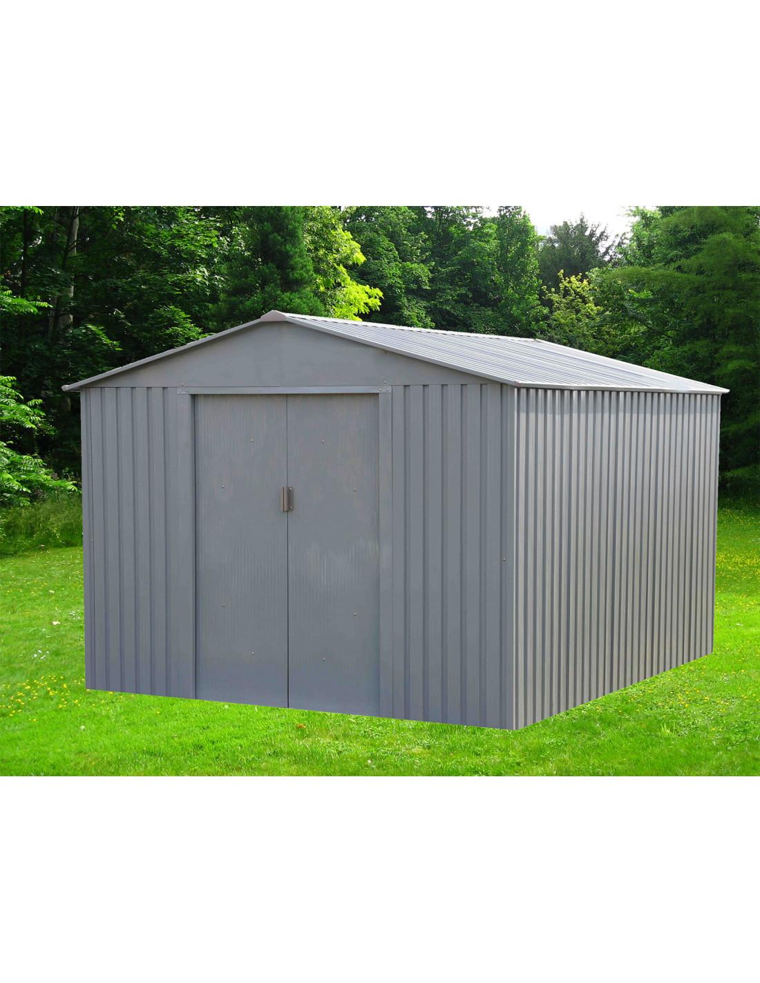 chalet jardin abri de jardin m tal mj 8x10 s1001e 7 86 m 261 x 301 x 198 cm hyper brico. Black Bedroom Furniture Sets. Home Design Ideas