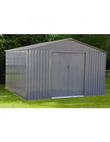 chalet jardin abri de jardin m tal mj 10x10 s1001g m 321 x 301 x 205 cm hyper brico. Black Bedroom Furniture Sets. Home Design Ideas