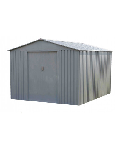 CHALET & JARDIN Abri de jardin métal MJ 8x10 S1001E 7,86 m² 261 x 301 x 198  cm - HYPER BRICO