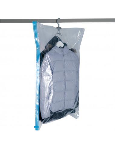 Fornord housse sous vide avec cintre 70 x 100 cm hyper brico for Housse sous vide sans aspirateur