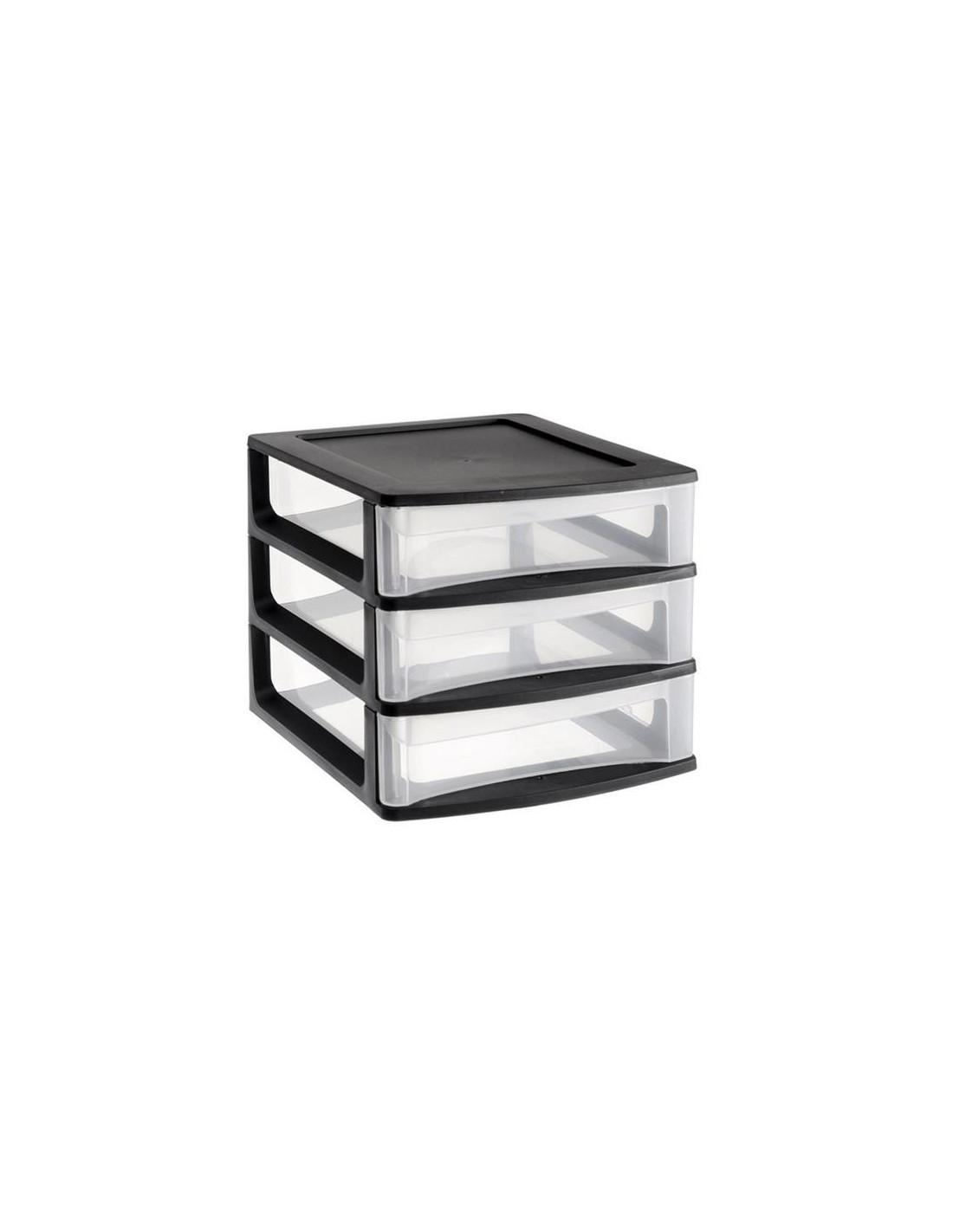 EDA Module de rangement 3 tiroirs petit modèle noir