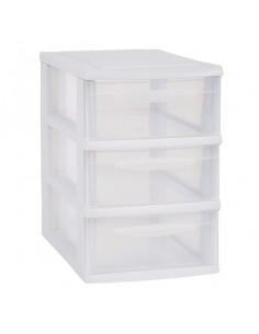 EDA Module de rangement 3 tiroirs A5 blanc grand modèle