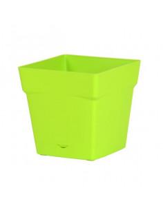 EDA Pot Toscane 3,4L avec soucoupe clipsée et réserve d'eau vert