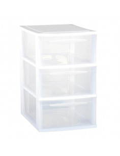 EDA Module de rangement 3 tiroirs A4 blanc grand modèle