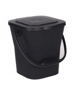 EDA Seau à compost gris anthracite