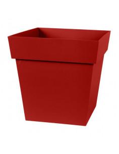 EDA Pot TOSCANE carré bas l32 x l32 x h32 cm rouge rubis