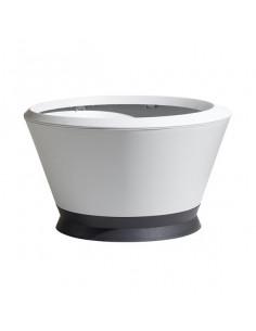 EDA IK2 | Vasque IKONE 105L d76cm blanc cérusé avec soucoupe gris anthracite (option bassin aquatique)