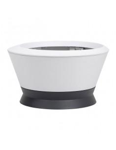 EDA IK1 | Vasque IKONE 35L H30,6cm blanc cérusé avec soucoupe gris anthracite