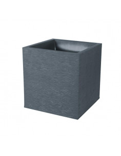 EDA Pot carré graphit gris anthracite 31L