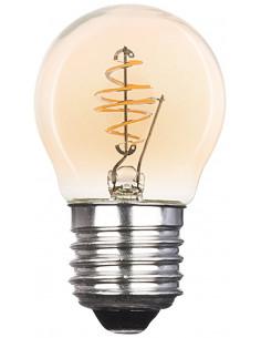 XQ-LITE Ampoule à incandescence LED - Forme Mini-globe - Filament - E27 - 2.5W Blanc chaud