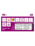 XQ-LITE Lot de 5 ampoules spot/reflecteur LED GU10 5W Blanc chaud