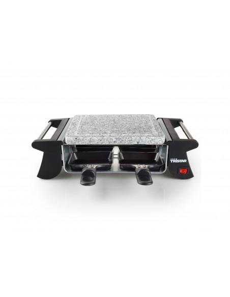 TRISTAR Appareil à raclette 4 coupelles et pierre à cuire 500W