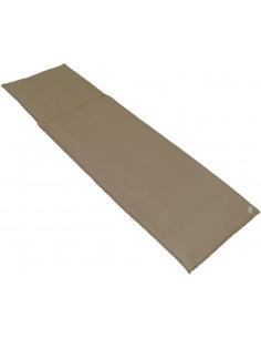 FORNORD Dessus de bain de soleil 188x58x4 cm taupe polyester enduit pvc