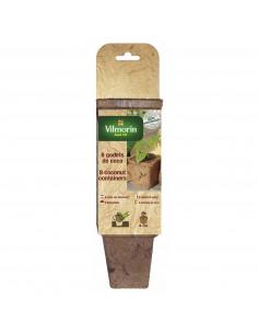 VILMORIN Lot de 8 godets en fibre de coco carre de 8 cm