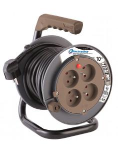 ELECTRALINE Enrouleur BRICO BB-LINE HO5VV-F 3G1,5 mm² 10m taupe