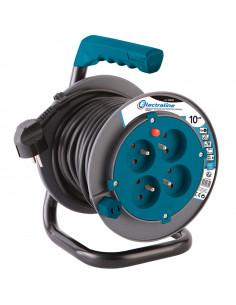 ELECTRALINE Enrouleur BRICO BB-LINE HO5VV-F 3G1,5 mm² 10m bleu
