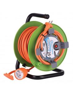 ELECTRALINE Enrouleur JARDI-LINE HO5VV-F 2x1.5mm² 25m Orange/Vert