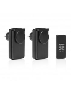FLAMINGO Kit 2 prises télécommandées pour usage extérieur et intérieur