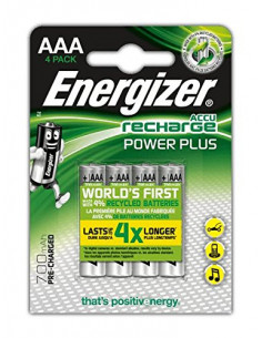 ENERGIZER RECH POWER PLUS 4 Piles Rechargeables AAA 700 mAh
