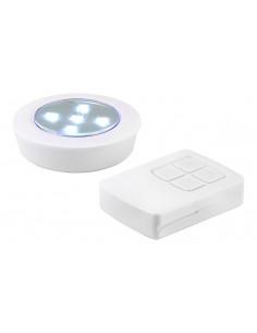 VELAMP Lampe PUSH LIGHT 5 LED avec télécommande Plastique Blanc
