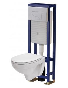 THERMASANIT Ensemble wc suspendu avec bati
