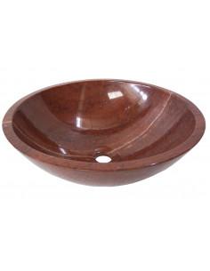 Vasque ronde en marbre rouge 420x140x15 mm