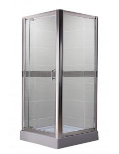 Paroi de douche fixe avec porte