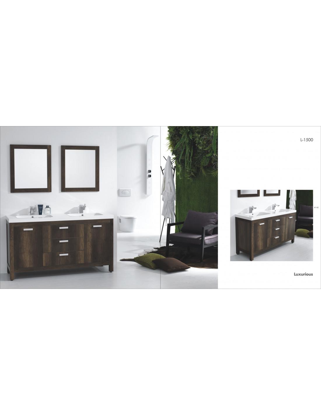 Meubles Cloison Double Face ensemble de meubles de salle de bain double vasques