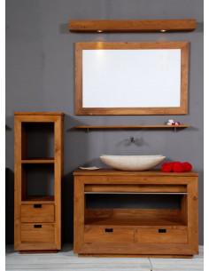 PASCAL JR PILLET Colonne de salle de bain en teck HOURTIN 2 tiroirs