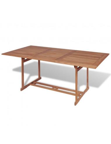 PASCAL JR PILLET Table de jardin en teck rectangulaire 180/240 x 90 ...