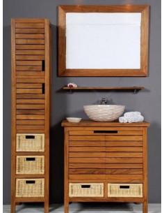 PASCAL JR PILLET Meuble de salle de bain en teck PYLA 80 cm