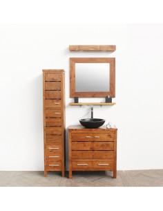 PASCAL JR PILLET Meuble de salle de bain en teck LACANAU 80 cm