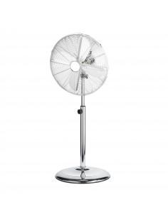 HOMDAY Ventilateur sur pied métal chrome rétro 40 cm