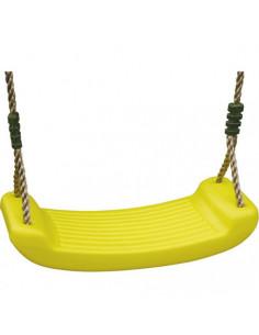 TRIGANO Balançoire plastique jaune pour portique 2,00 / 2,50 m
