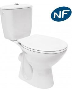 COGESANIT Pack WC PRESIDENT 3/6L céramique sortie horizontale NF
