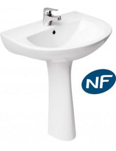 COGESANIT Pack lavabo 60cm + colonne PRESIDENT NF blanc