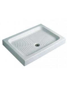 COGESANIT Receveur de douche à poser en céramique AZZURRA 120x80x11,5cm