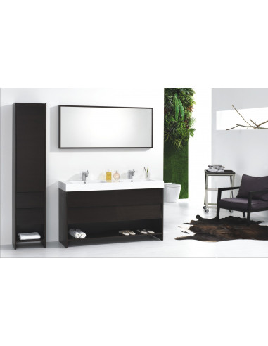 Ensemble de meubles de salle de bain noir - HYPER BRICO