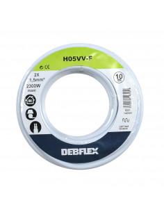 DEBFLEX Bobinot câble souple 10m HO5VV-F 2x1.5mm² blanc