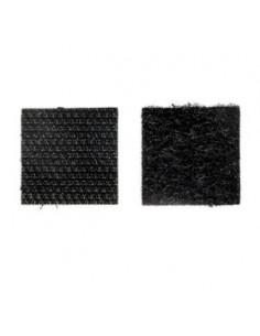LE CROCHET FRANCAIS Pastilles adhésives carrées noir x8