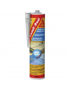 SIKA SIKASIK POOL Mastic silicone spécial joint pour piscine - 300ml - Transparent