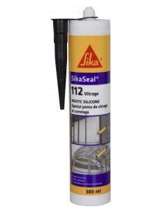 SIKA SIKASEAL® 112 VITRAGE Mastic silicone spécial joint de fenêtre et carrelage - SNJF - 300ml - Noir