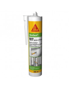SIKA SIKASEAL® 107 JOINTS & FISSURES Mastic acrylique spécial façade SNJF - 300ml - gris