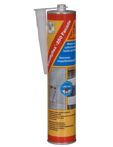 SIKA SIKAHYFLEX 250 Mastic pour joints de façades en béton et maçonnerie - 300ml - Blanc