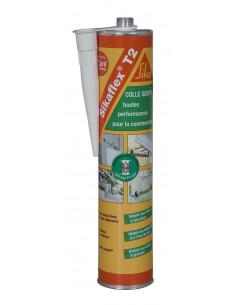 SIKA SIKAFLEX® T2 Colle haute résistance, élastique et dure pour la construction - 300ml - Blanc