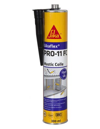 SIKA SIKAFLEX PRO 11 FC Mastic-colle tout en 1 à prise rapide et multi applications -SNJF - 300ml - noir