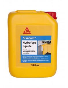 SIKA SIKACEM® HYDROFUGE LIQUIDE Hydrofuge de masse liquide pour bétons, mortiers et enduits - 5L