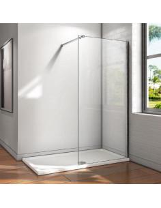 COGESANIT Paroi de douche avec barre fixe 8mm