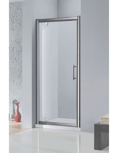 Porte de douche pivotante 90 x H.185 cm